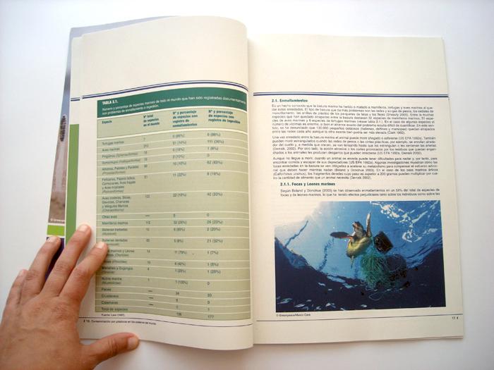 greenpeace, diseño editorial, contaminación por plásticos en los océanos del mundo, diseño gráfico, maquetación