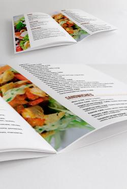 Diseño editorial, carta restaurante, Bocateria Tamarindo